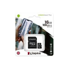 Card MicroSDHC 16GB Kingston - receptoare.ro