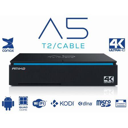 Receptor tuner DVB-C AMIKO A5 T2/C Android 4K - receptoare.ro