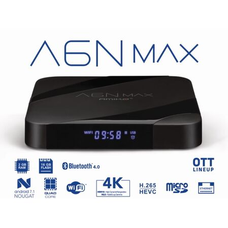 Receptor TV internet AMIKO A6N MAX OTT 4K - receptoare.ro