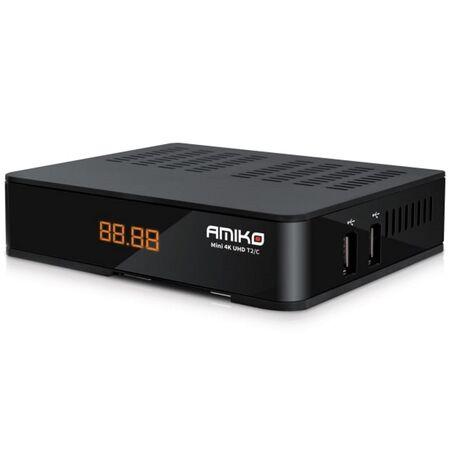 Receptor tuner DVB-C Mini 4K UHD AMIKO - receptoare.ro