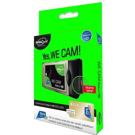 Modul CAM cu smartcard TIVUSAT HD satelit Italia WE CAM - receptoare.ro
