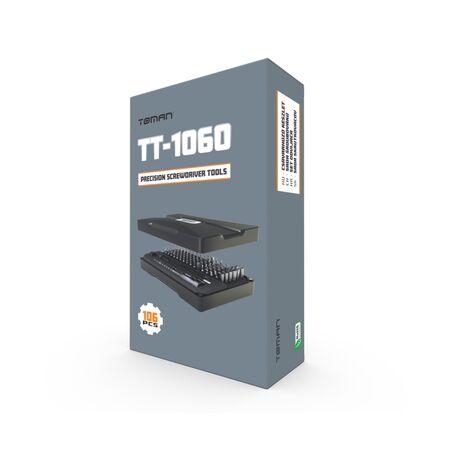Trusa de chei tubulare & surubelnite Toman TT-1060 - 106 piese - receptoare.ro